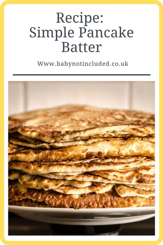 My simple Pancake Batter Recipe is easy to make for the perfect pancakes