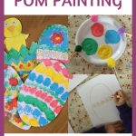 Craft – Easter Pom Pom Painting