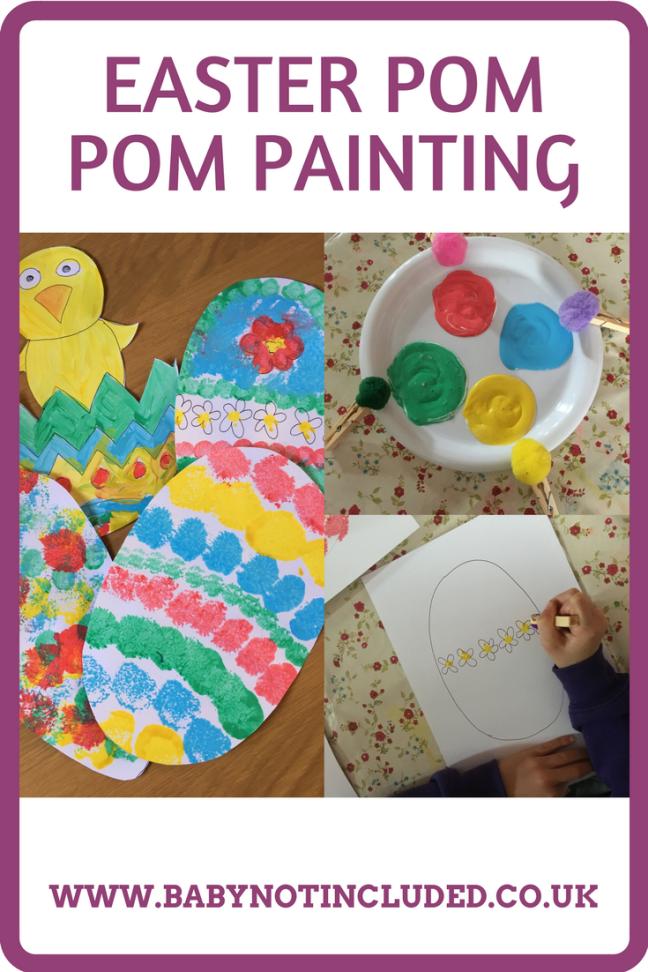 Easter Pom Pom Painting