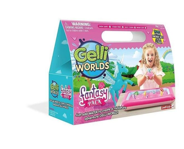 Gelli Worlds Fantasy Unicorns and Fairies Slime Play Pack