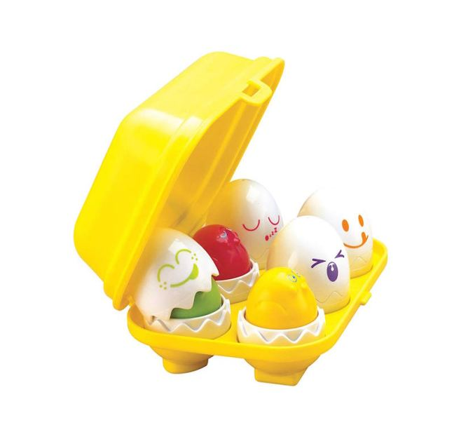 Baby's first Christmas Gift Guide. Tomy Hide and Squeak Eggs