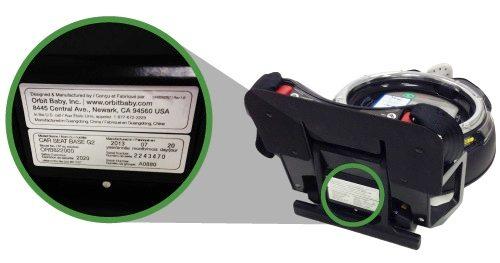 Etiqueta de vencimiento del asiento de automóvil