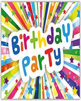 Tarjeta de cumpleaños fiesta de cumpleaños