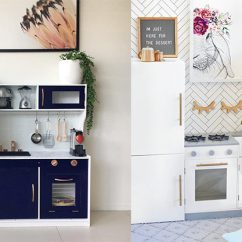 Kmart Kitchen Renovating These Clever Parents Are Hacking The Kids Wooden Kitchens