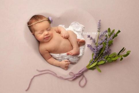 Newborn Baby Lavender