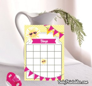 cute baby shower bingo game cards
