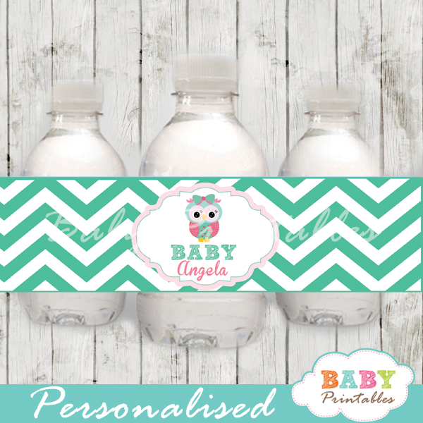 Owl family personalized printable Water Bottle Labels