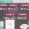 printable pink wild safari baby shower games package