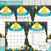 printable yellow rubber duck baby shower games package
