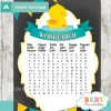 rubber duck printable baby shower word search puzzles