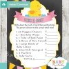 rubber duck Price is Right Baby Shower Game printable pdf