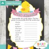 rubber duck printable word scramble baby shower games