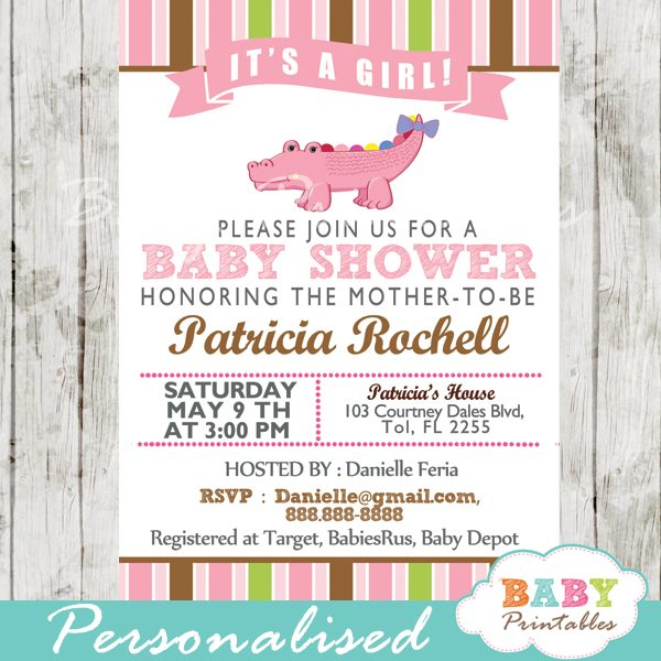 Baby Shower Invitation Card D142