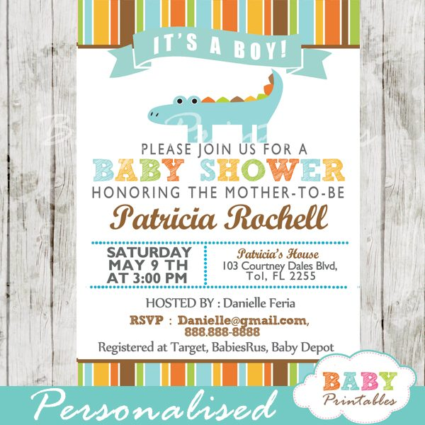 Baby Shower Invitation Card D143