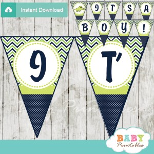 it's a boy printable crocodile themed baby shower banner