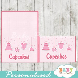 printable food labels pink baby girl clothes