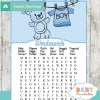 baby boy blue clothes themed printable baby shower word search puzzles