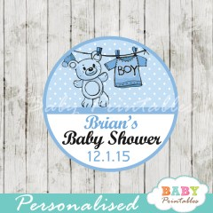 baby boy blue clothes baby shower tags labels
