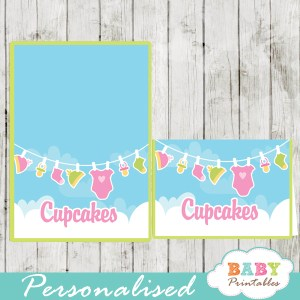printable food labels pink green baby girl clothes
