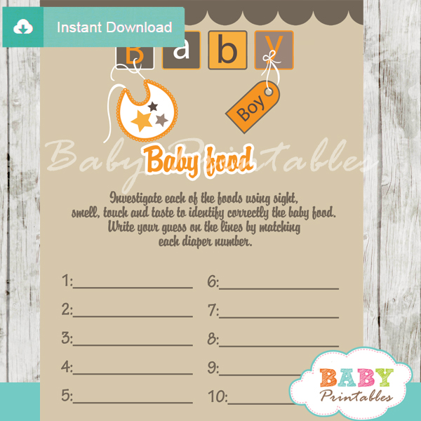 baby letter blocks printable baby shower games blind tasting baby food