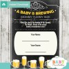baby is brewing printable Baby Shower Game Guess the Mommy's Tummy Size