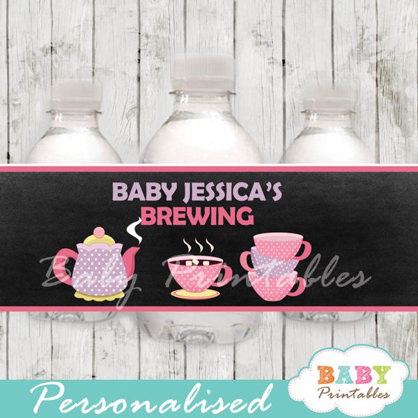 a baby is brewing tea baby shower bottle labels u2013 d157
