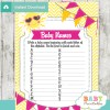 printable sunshine Name Race Baby Shower Game cards