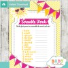 girl sunshine printable word scramble baby shower games