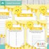 printable sunshine baby shower fun games ideas