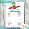 little pilot themed printable baby shower games what's in your purse