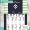 nautical stripes baby shower word search game printable puzzles