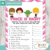 star wars Price is Right Baby Shower Games printable pdf