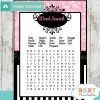 pink paris poodle baby shower word search game printable puzzles