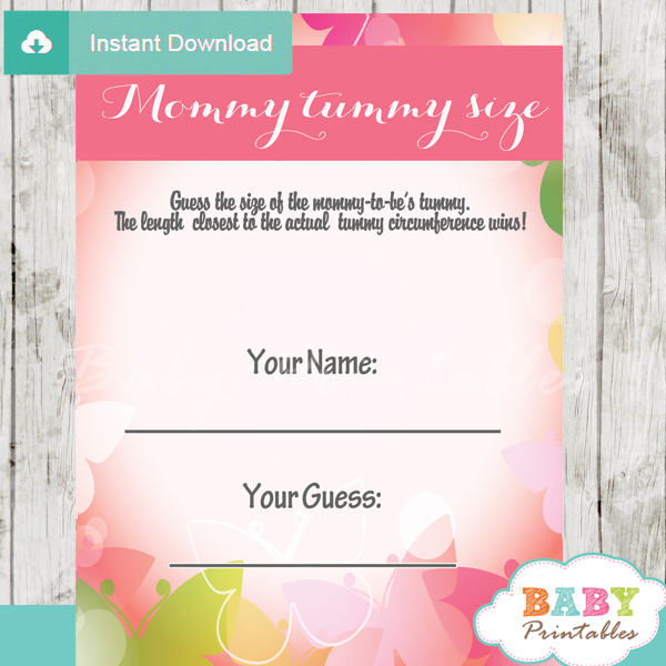 measure the belly baby shower games and activities