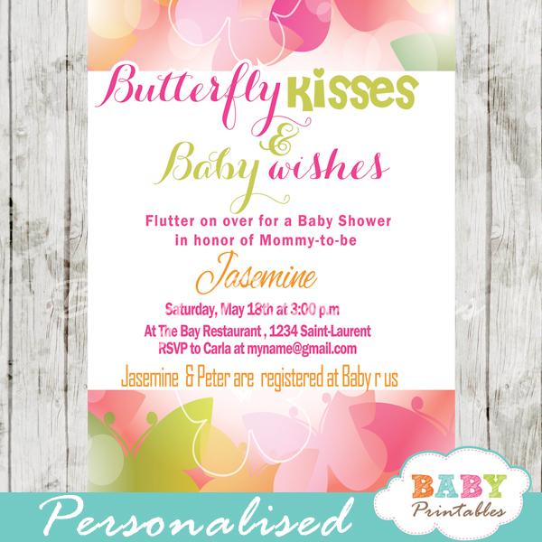 Spring Bokeh Erfly Baby Shower Invitation D236