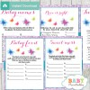 purple butterflies printable baby shower games package