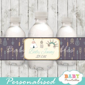 printable native american water bottle labels