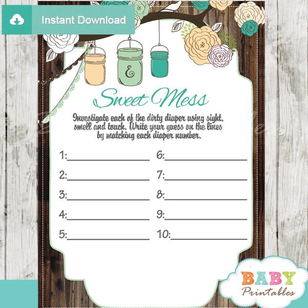 baby shower mason jar games baby food sweet mess