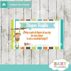 monkey boy diaper raffle tickets