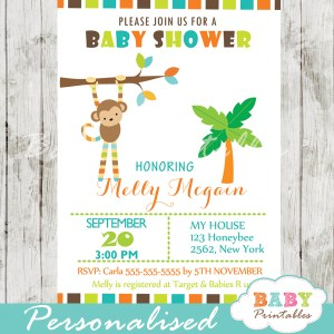 monkey invitations for baby shower