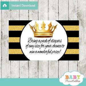 black gold crown royal diaper raffle tickets