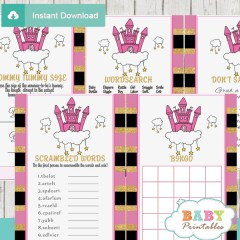princess themed games to play at a baby shower