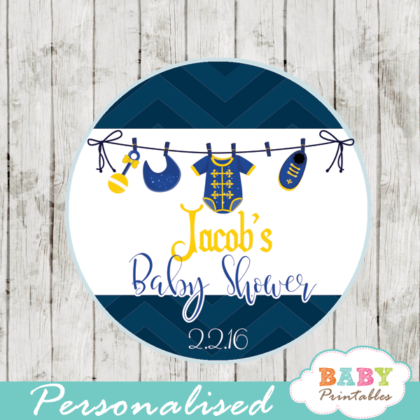 royal personalized baby shower favor tags prince cupcake toppers