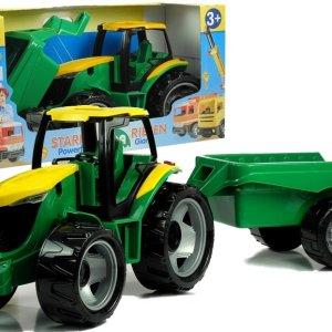 Veliki dečiji traktor sa prikolicom