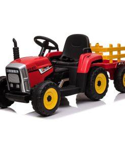 Veliki traktor na akumulator sa prikolicom