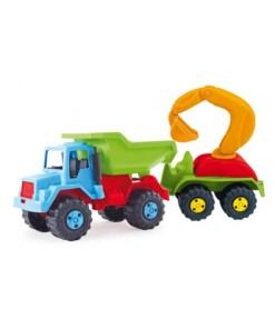 Kamion sa prikolicom i kašikom