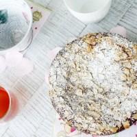 Nuss Ricotta Kuchen für einen Bloggeburtstag