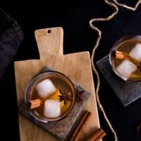 Herbst Birnen Drink mit Cointreau Noir