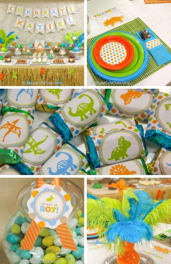 A Fun Dinosaur Themed Baby Shower Baby Shower Ideas