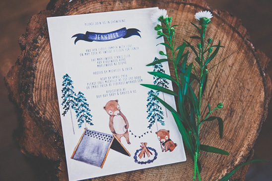 Camping Themed Baby Shower  Baby Shower Ideas  Themes